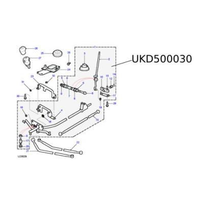 Ansamblu timonerie selector viteze Freelander UKD500030