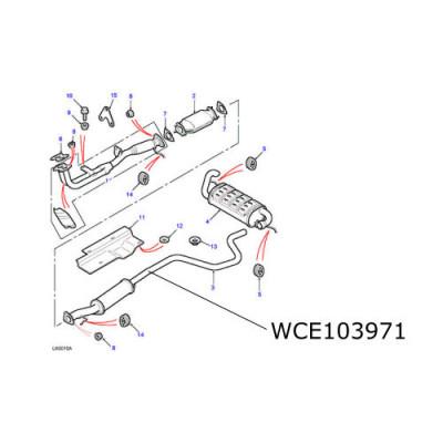 Teava esapament intermediara Freelander 1.8 benzina WCE103971