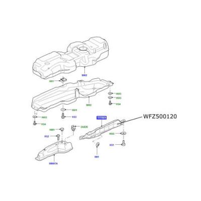 Scut termic rezervor combustibil LR Discovery 3 si 4 WFZ500120