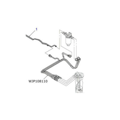 Conducte motorina pompa rezervor Discovery 2 TD5  WJP108110