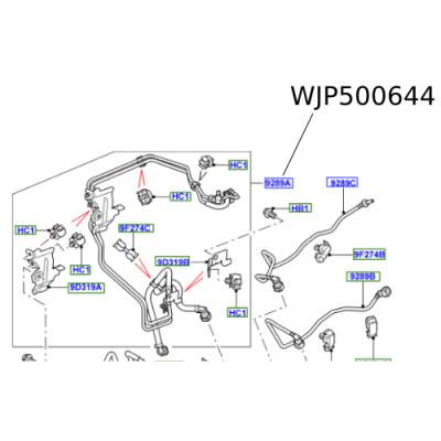 Conducte motorina Discovery 3 Range Rover Sport WJP500644