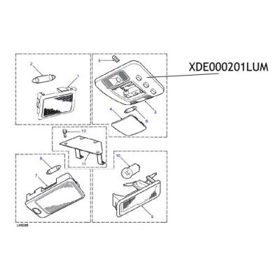 Lampa interior XDE000201LUM Land Rover Freelander