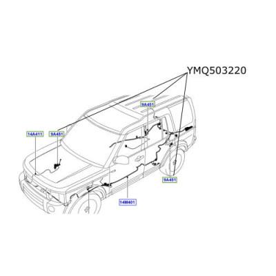 Cablaj senzori inaltare suspensie Discovery 3 Range Rover L322 si Sport YMQ503220