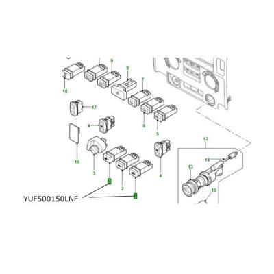Buton incalzire scaune Land Rover Defender YUF500150LNF
