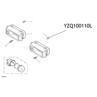 Bec ceas bord Land Rover Freelander YZQ100110L