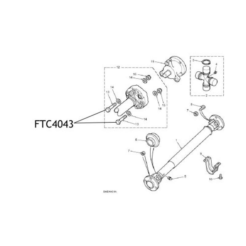 Surub flansa elastica cardan Discovery Range Rover P38 FTC4043