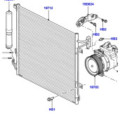 Condensator aer conditionat LR018403 Land Rover Discovery